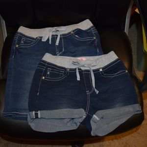 2 Pairs of Seven7 Jean Shorts, size 14 Elastic